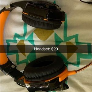 Headset: used once